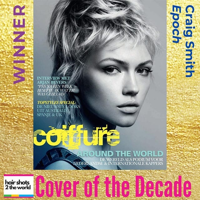 Craig Smith hair Fruition Salon in Brisbane Cover of the decade